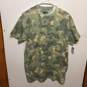 Gildan Medium Camouflage Front White Back Shirt